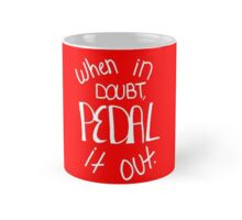 Pedal it Out Red Mug