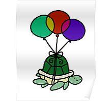 Balloon Turtle Poster