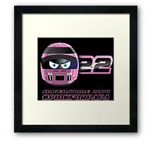 Jenson BUTTON_2014_Silverstone_Helmet Framed Print