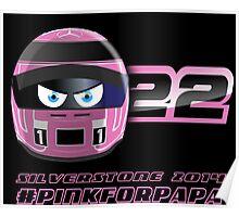 Jenson BUTTON_2014_Silverstone_Helmet Poster