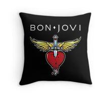bon jovi best logo vector dolly Throw Pillow