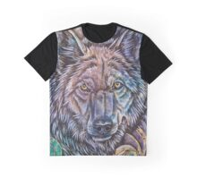 Cosmic Wolf Graphic T-Shirt