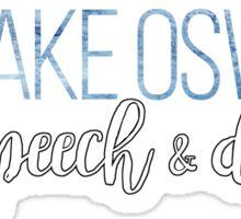 lake oswego speech and debate Sticker