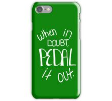 Pedal It Out Green iPhone Case/Skin