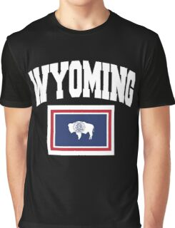 Wyoming Flag in Wyoming Map Graphic T-Shirt