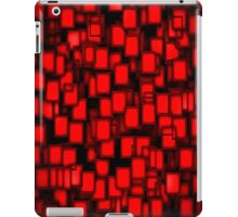 Red Card Abstract Pattern  iPad Case/Skin