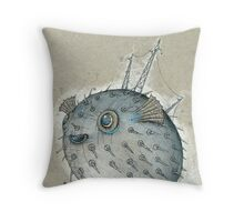 Porcupinefish Throw Pillow