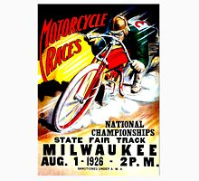"""MOTORCYCLE RACES"" Vintage State Fair Racing Print Unisex T-Shirt"