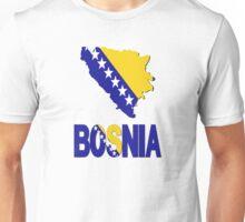 Bosnia Flag in Bosnia Map Unisex T-Shirt