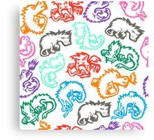 Crayon Dragons Canvas Print