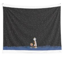 Calvin and Hobbes Stars Wall Tapestry