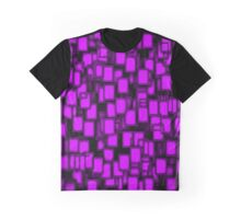 3D Purple Poker Cards Pattern  Graphic T-Shirt