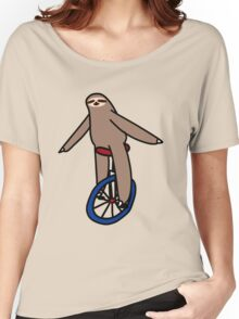 Unicycle Sloth Women's Relaxed Fit T-Shirt