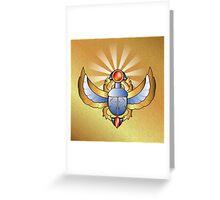 Beautiful scarab Greeting Card