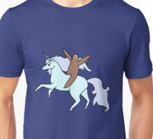 Sloth Riding a Unicorn Unisex T-Shirt