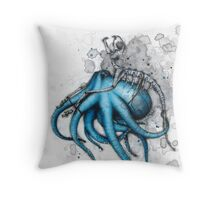 Cat Exoskeleton Throw Pillow