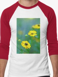 Swamp Sunflower Men's Baseball ¾ T-Shirt