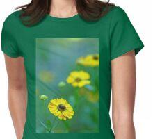 Swamp Sunflower Womens Fitted T-Shirt