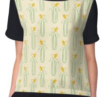 Pretty Yellow Spring Daffodils Chiffon Top