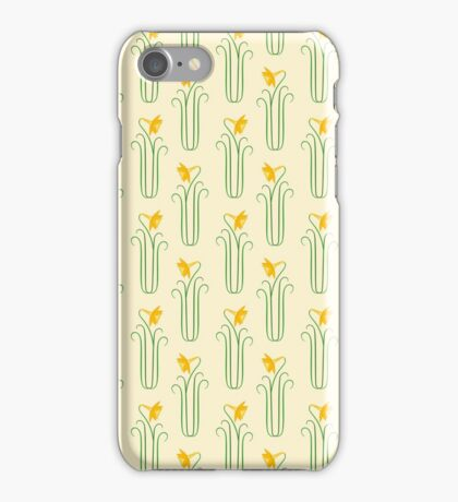 Pretty Yellow Spring Daffodils iPhone Case/Skin