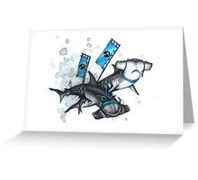 Katana Sharks Greeting Card