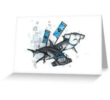 Katana Sharks Greeting Card