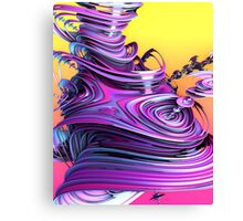 Purple Glossy Putty Canvas Print