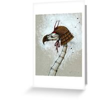 Samurai Bird Greeting Card
