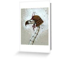 Samurai Bird Greeting Card