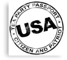 Tea Party Passport Canvas Print
