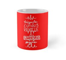 The Curious Bicycle Red Mug