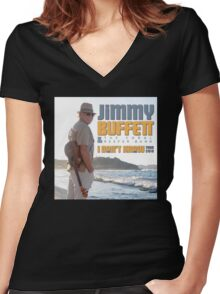 Jimmy Buffett The Coral & Reefer Band Tour 2016 Women's Fitted V-Neck T-Shirt