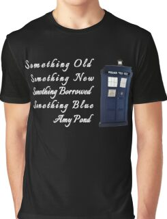Doctor Who - Amy's Wedding Something Blue Graphic T-Shirt
