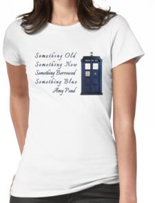 Doctor Who - Amy's Wedding Something Blue Womens Fitted T-Shirt