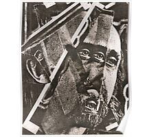 Dada Cubist Abstract Face Poster