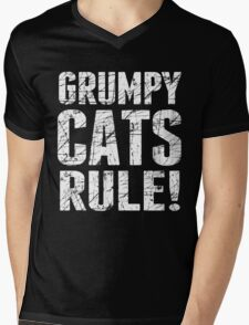Grumpy Cats Rule! Mens V-Neck T-Shirt