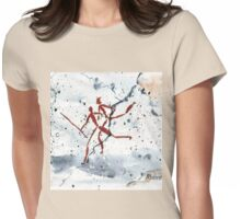 African Bushman Rock Paintings - Ethnic series Womens Fitted T-Shirt