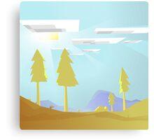Minecraft Landscape Canvas Print
