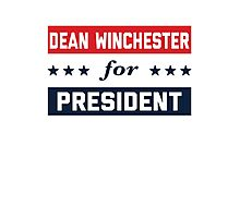 Dean Winchester For President Photographic Print
