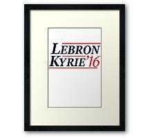 Lebron / Kyrie 2016 Framed Print