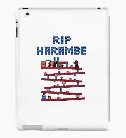 RIP Harambe Donkey Kong Mario 64 Bit iPad Case/Skin