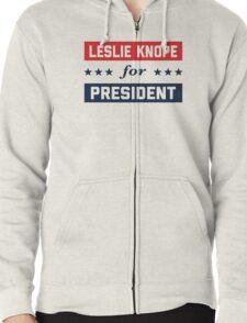 Leslie Knope For President 2016 Zipped Hoodie