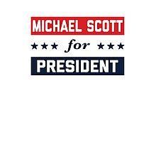 Michael Scott For President Photographic Print