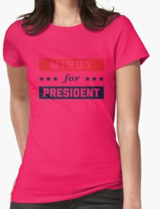 Mindy For President Womens Fitted T-Shirt