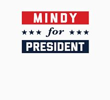 Mindy For President Women's Fitted V-Neck T-Shirt