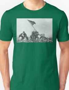 Harambe WW2 Flag America Unisex T-Shirt