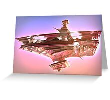 Ancient Glitch Temple Greeting Card