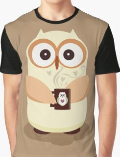 OWL AND CUPPA Graphic T-Shirt