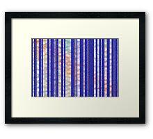 Furry Skies - Original Abstract Design Framed Print