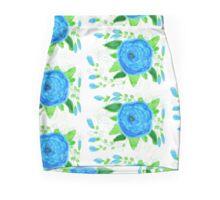 Blue Sky Roses Mini Skirt